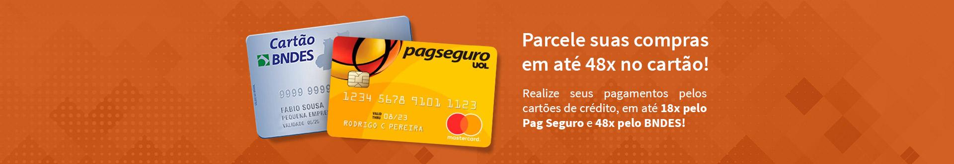 Parcele suas compras em até 48x no cartão.